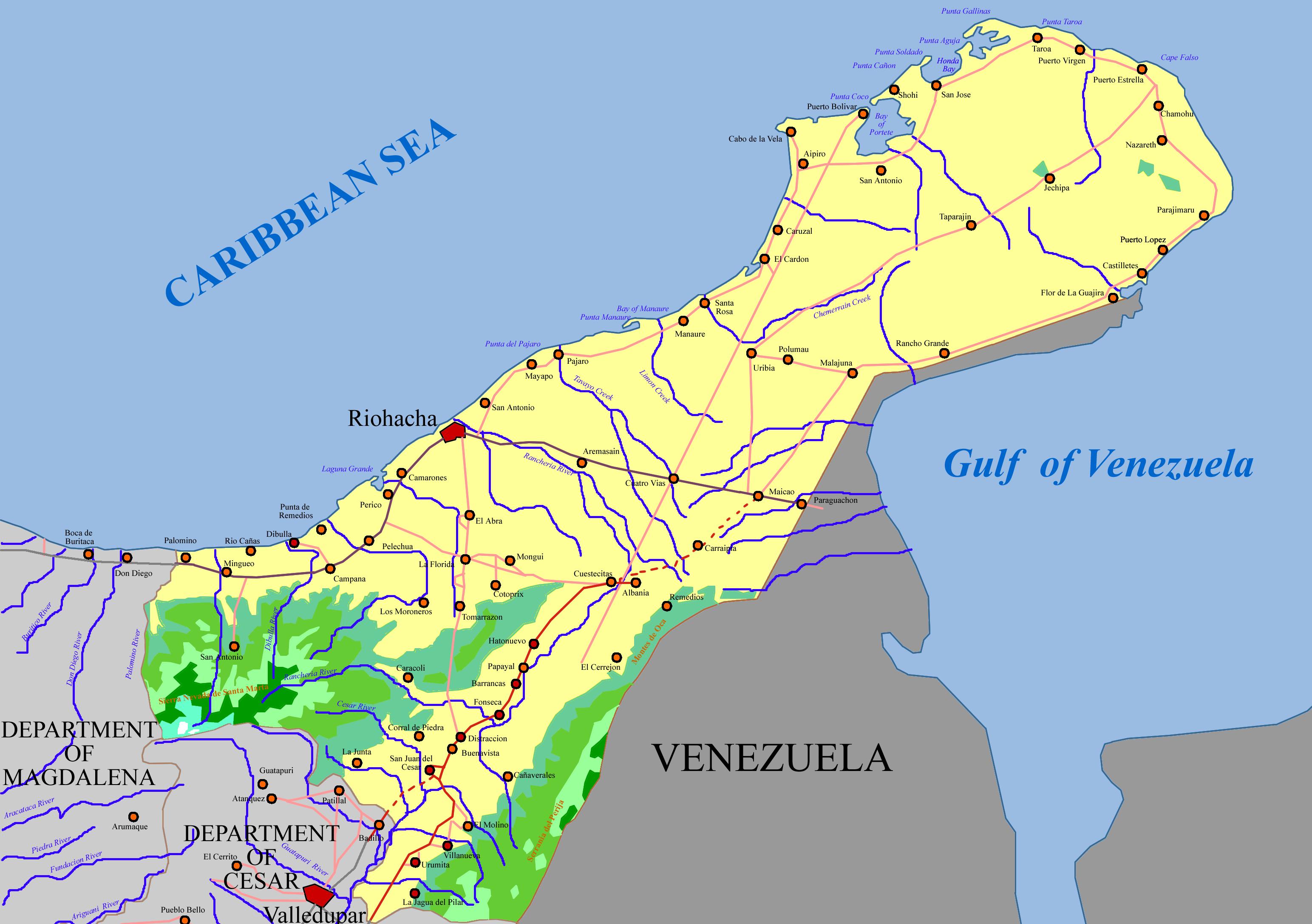 FileGeography Map of La Guajira 2png Wikimedia Commons