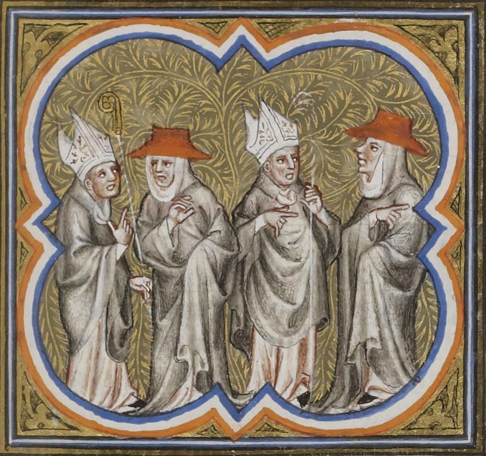 Miniatura del siglo XV de un manuscrito de las Crónicas de Jean Froissart