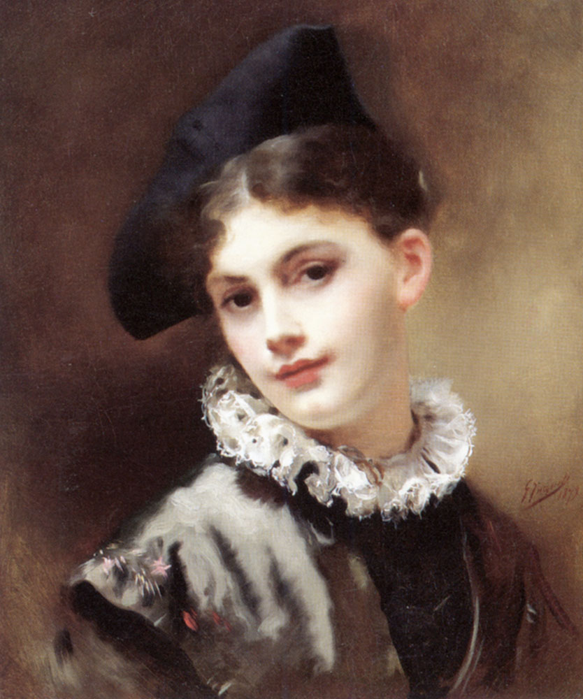 File:Gustave Jean Jacquet - A coquettish smile.jpg - Wikimedia Commons