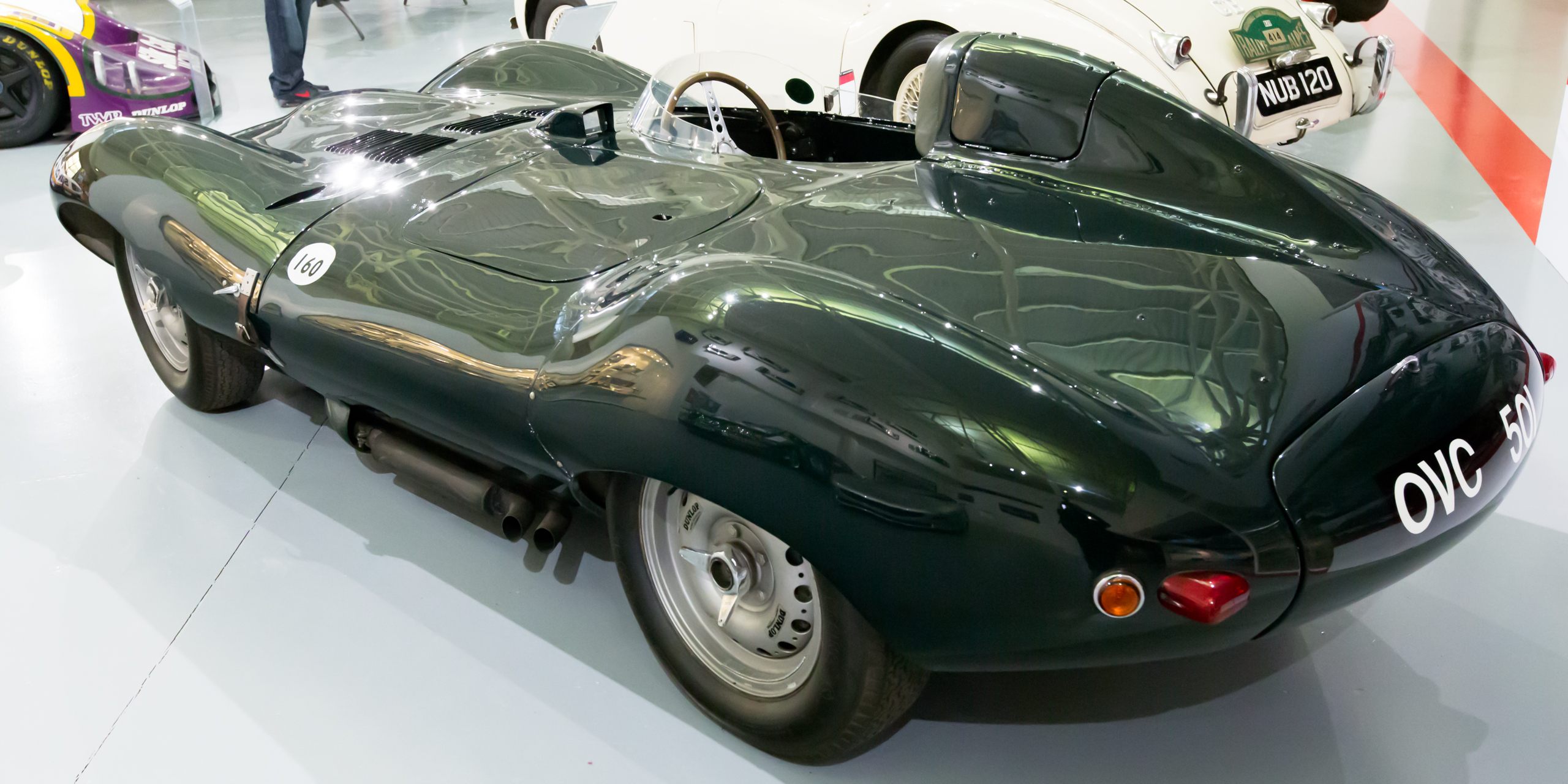 File Jaguar D Type Rear Left Heritage Motor Centre Gaydon