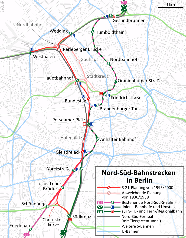 Karte S21 Berlin