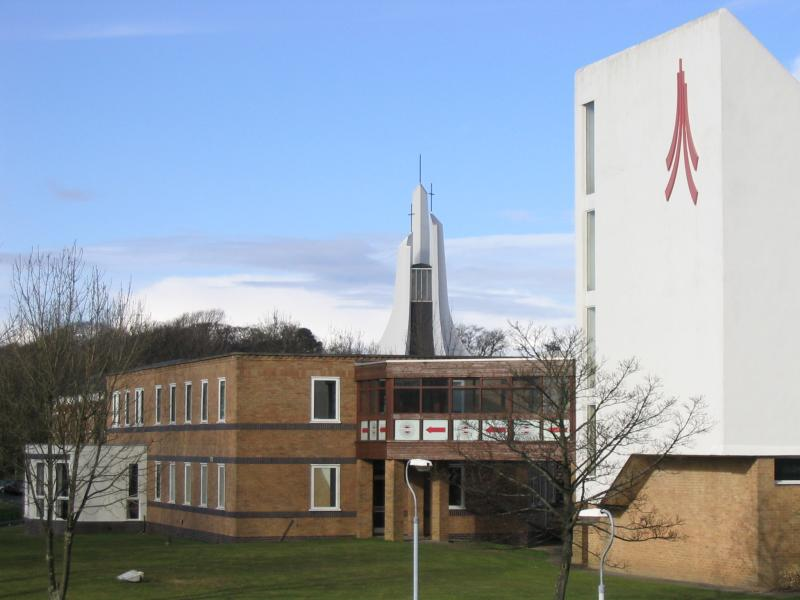 filelancaster university chaplaincy centre spire and logo