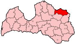 Pladsering af Alūksnes distrikt