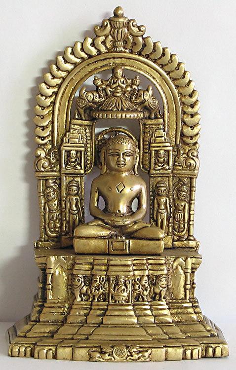 Le principe philosophique indien de l'Ahimsa Lord_Mahavir_Gold