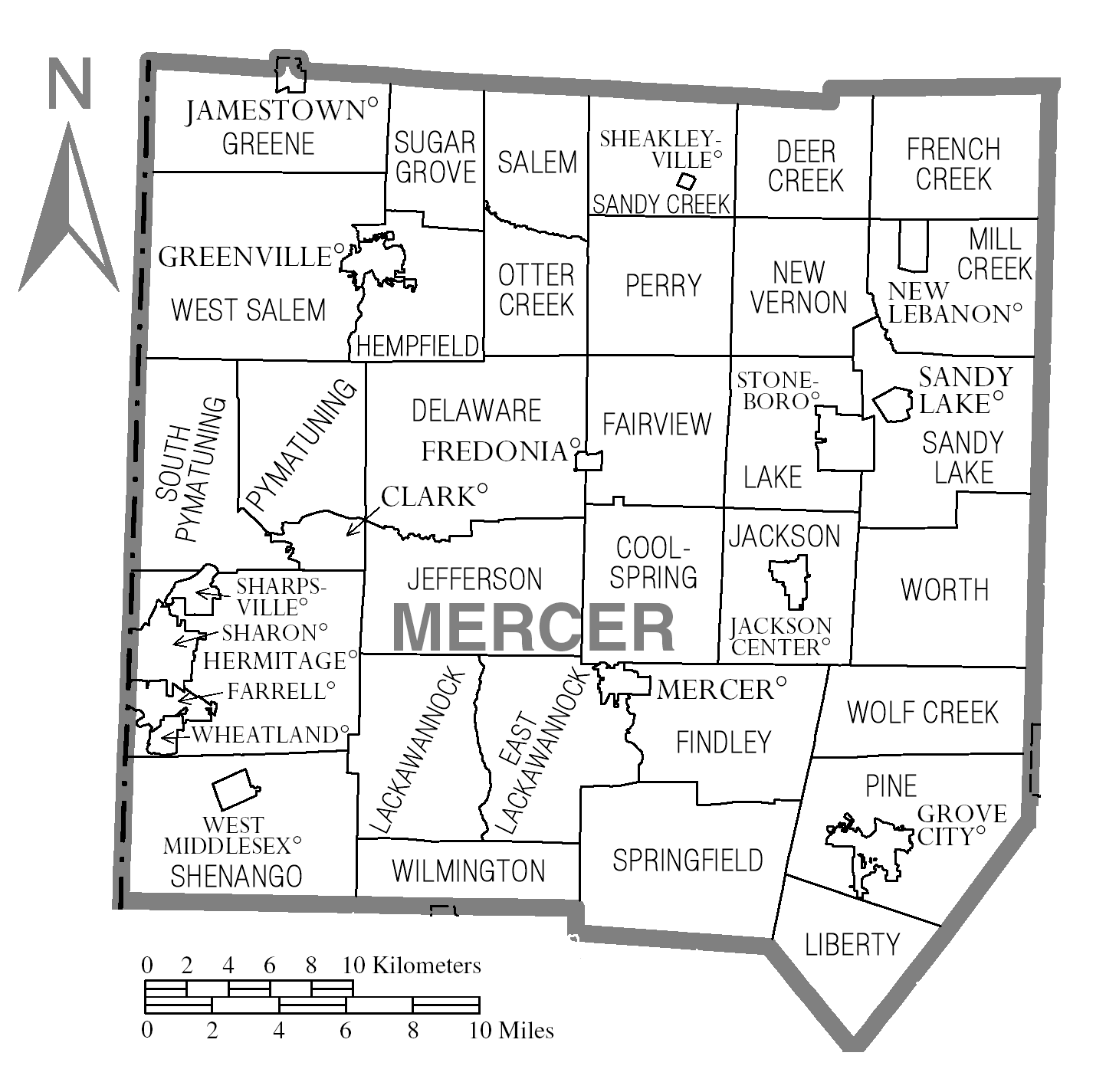 Cars Mercer County Map