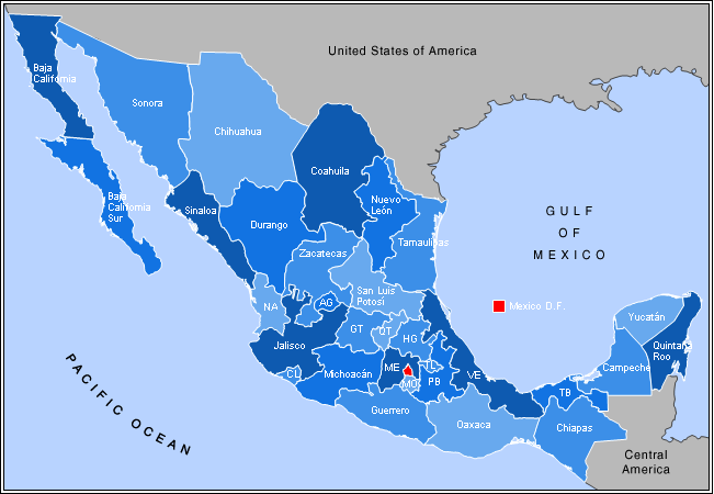 File Mexico States Map W Names Png Wikimedia Commons