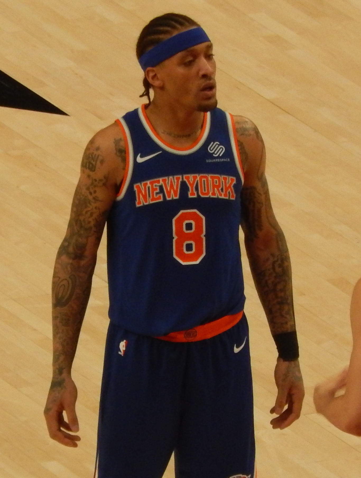 Beasley with the Knicks in March 2018