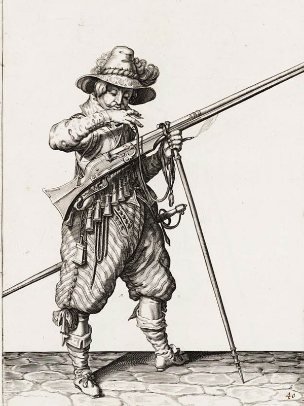 Musketeer with a musket.