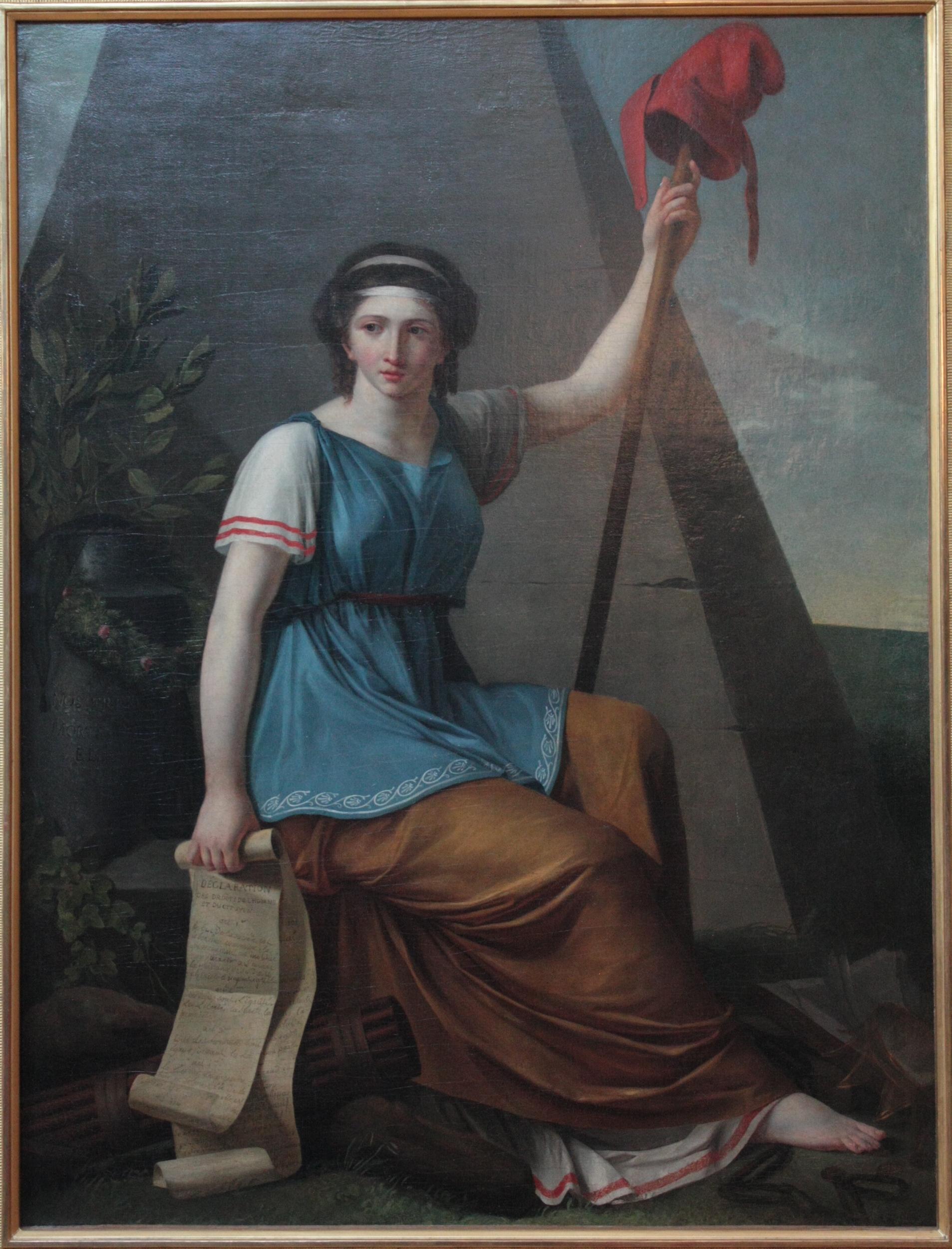 Nanine Vallain, La liberté, 1794, Musée du Louvre