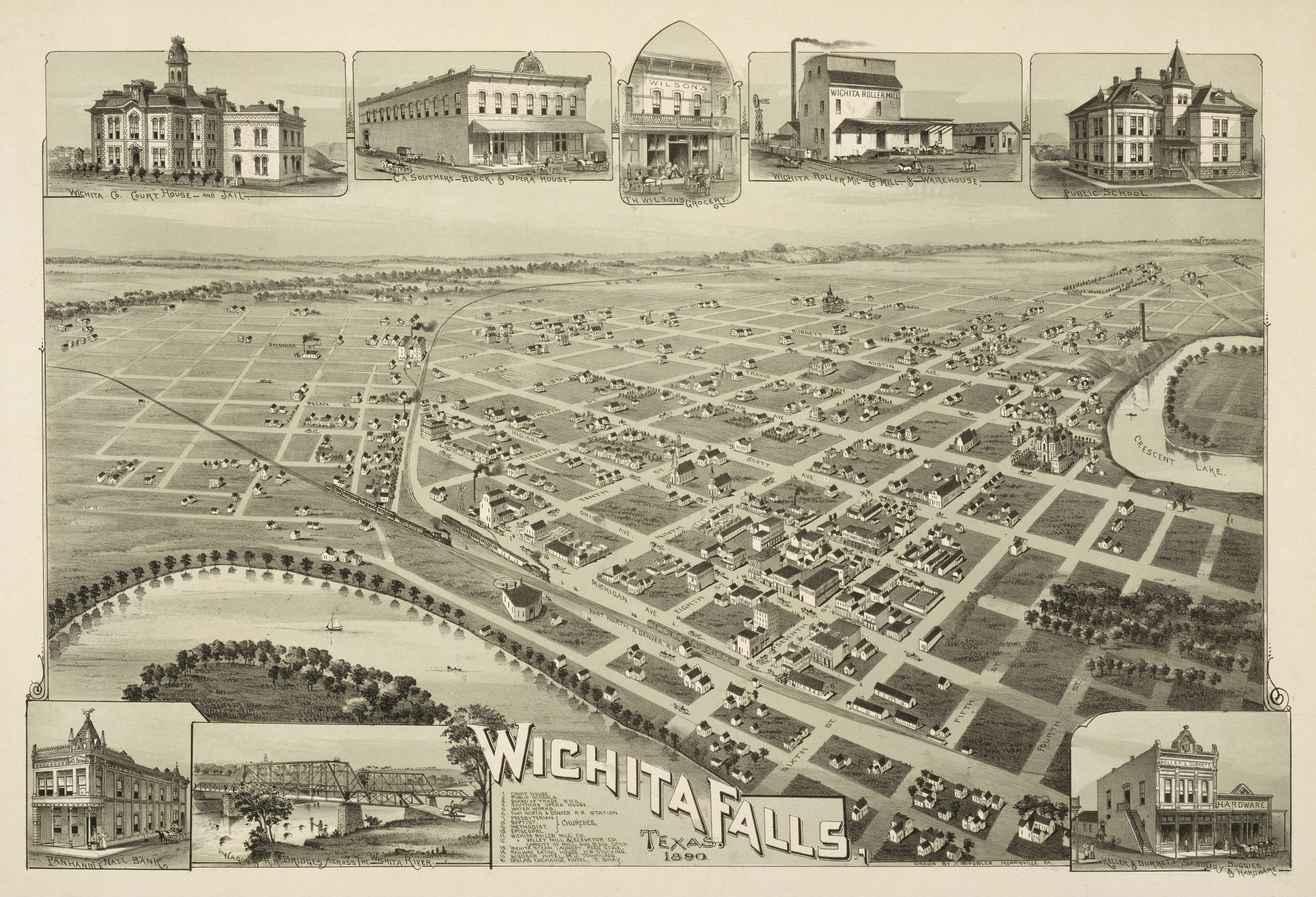 Old map wichita falls 1890 jpg