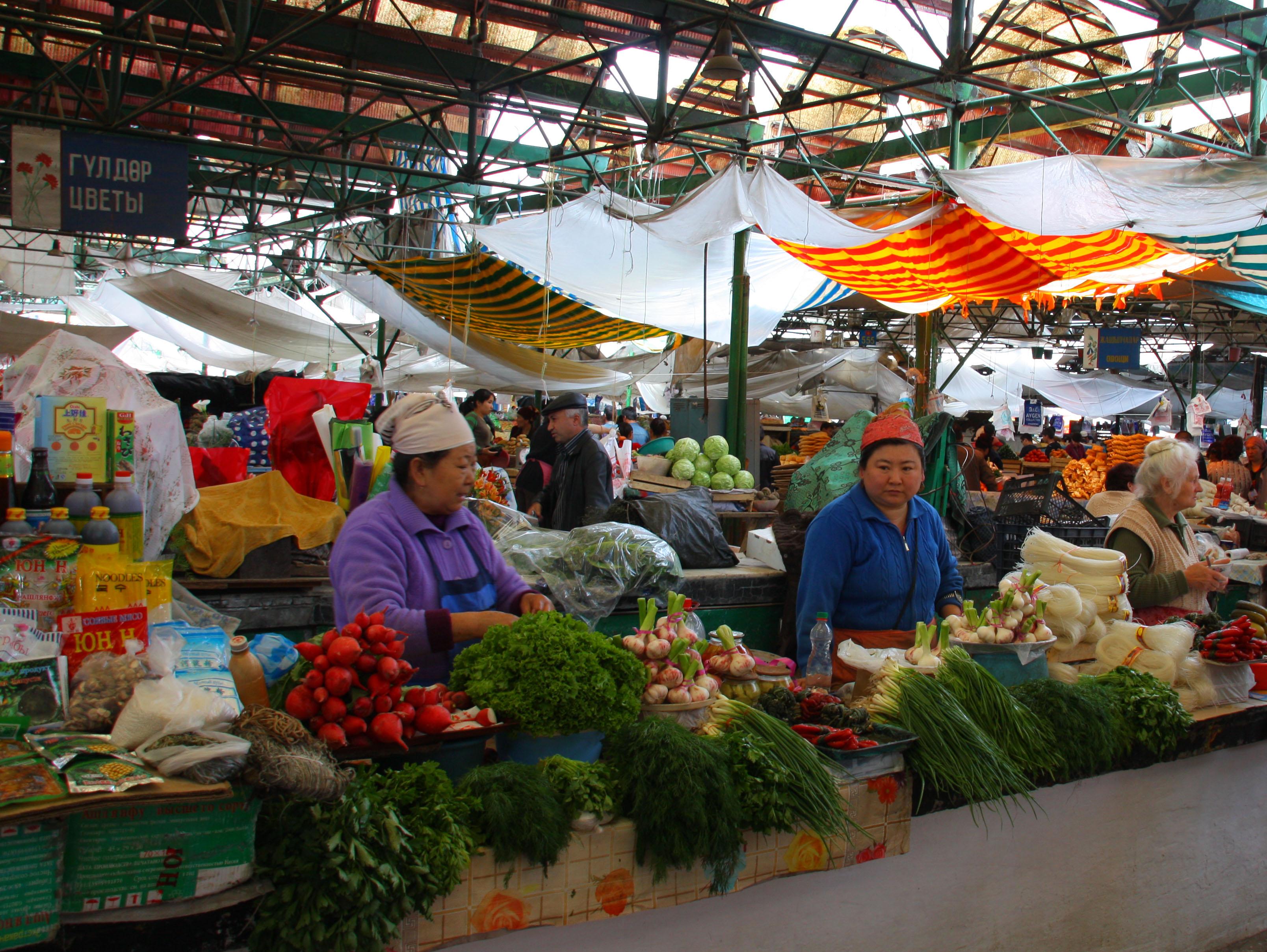 Bishkek Kyrgyzstan  city pictures gallery : Osh Bazaar in Bishkek, Kyrgyzstan Wikimedia Commons