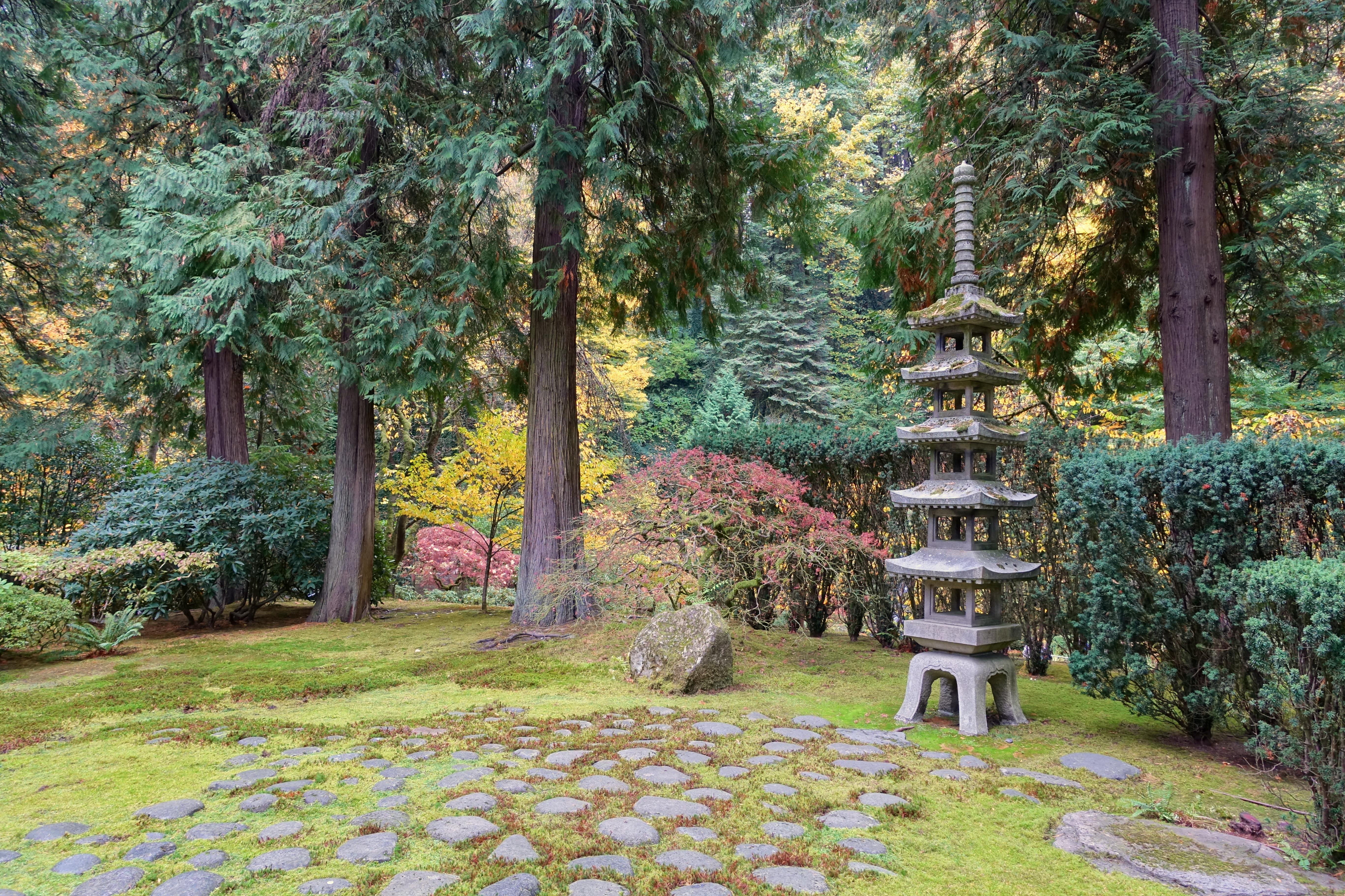 File Pagoda Lantern And Stones Portland Japanese Garden