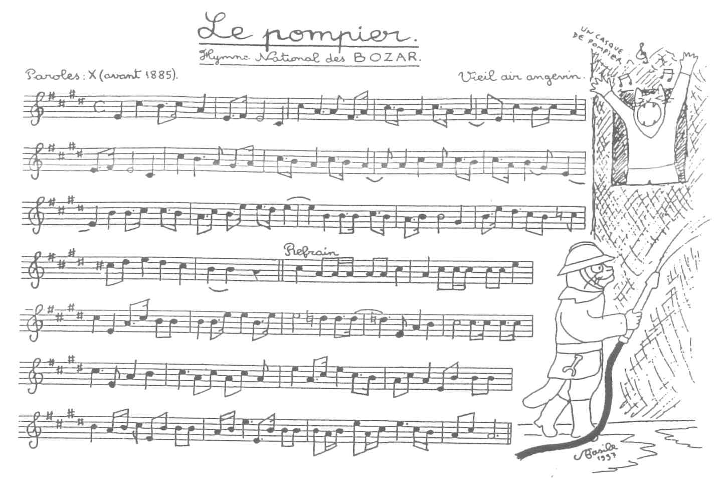 Filepartition Du Pompier Illustrée Par Basile Pachkoff