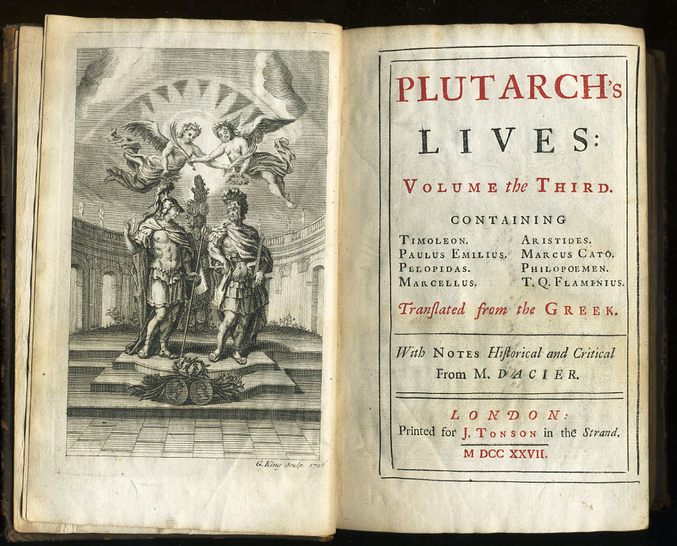 Third Volume of a 1727 edition of [[Plutarch