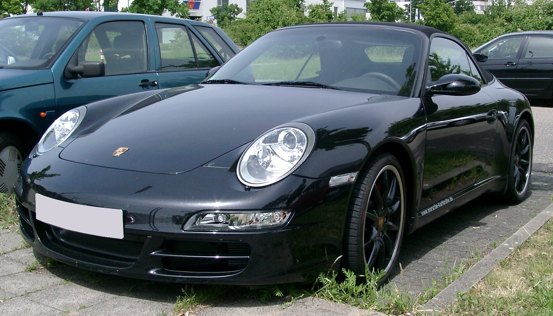 file porsche 911 carrera s cabrio front wikimedia commons. Black Bedroom Furniture Sets. Home Design Ideas
