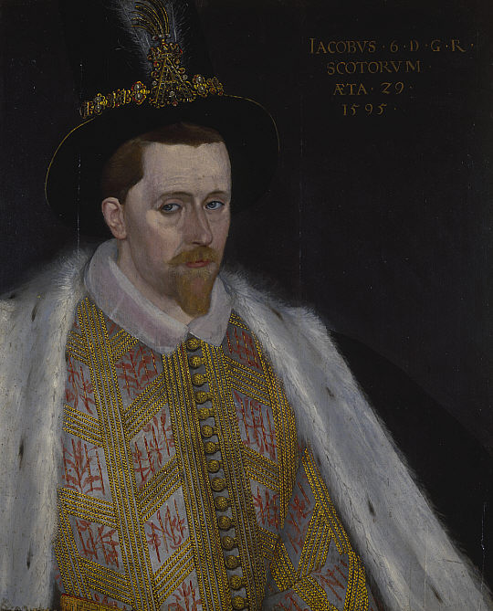 Portrait of King James VI & I by the court painter Adrian Vanson