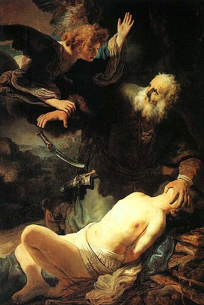 Rembrandt The Sacrifice of Isaac by Abraham