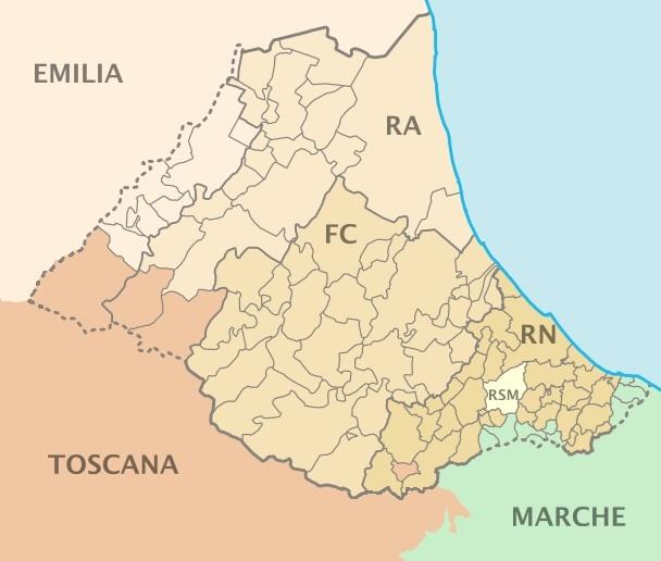 Cartina Geografica Costa Adriatica Marche.Romagna Wikipedia