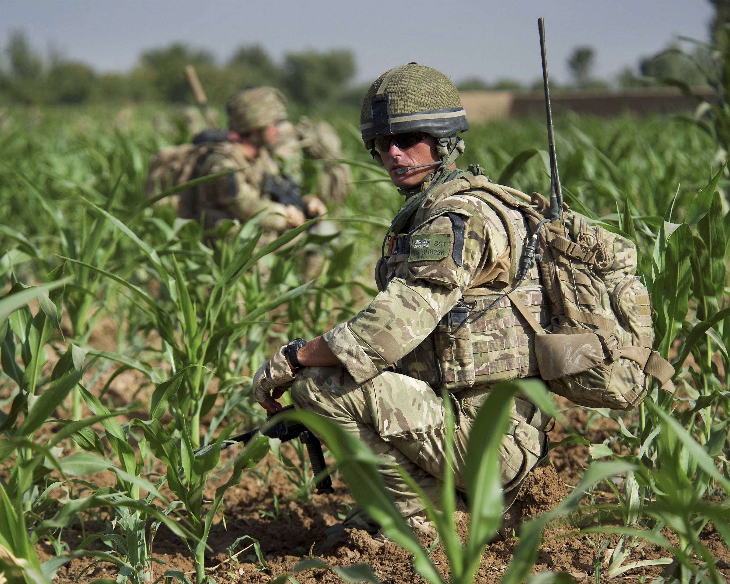 File:Royal Marine from 42 Commando on Patrol in ...