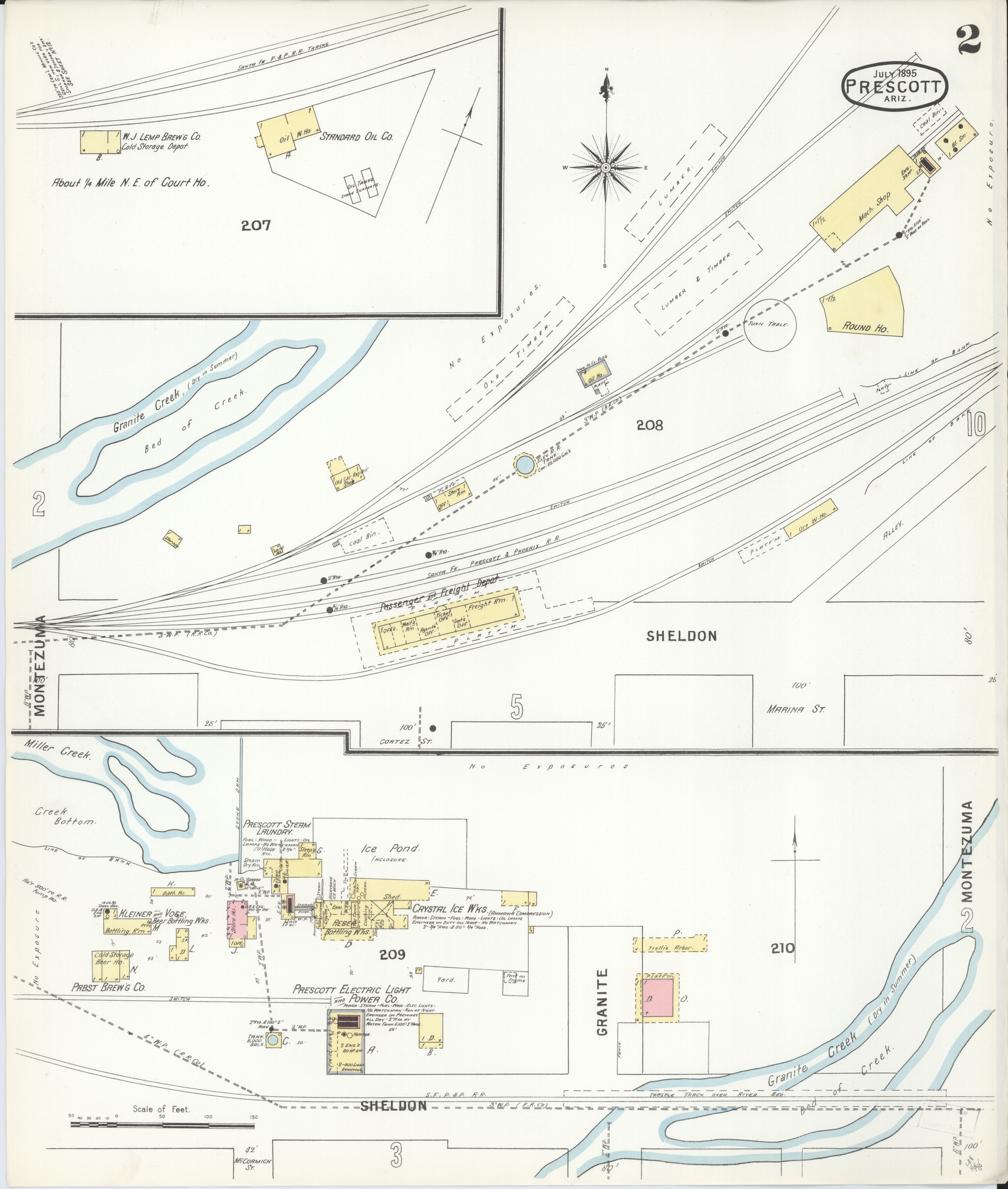 Map Of Arizona Prescott.File Sanborn Fire Insurance Map From Prescott Yavapai County