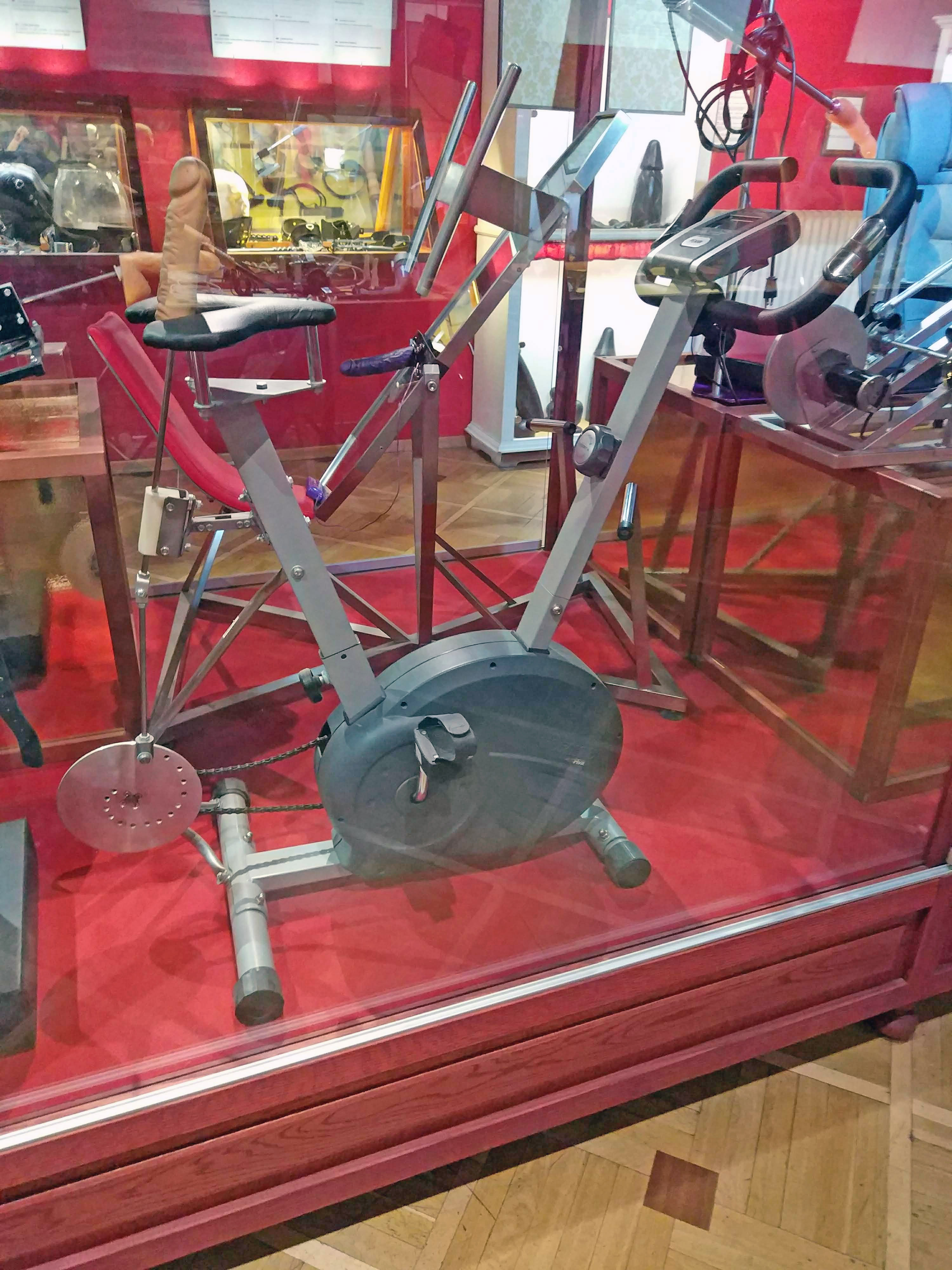 Sex Machines Museum Prague - Exercise bike with a dildo.jpg English: Exercise bike with a dildo. In Sex Machines Museum Prague Date 16 July 2018, 17:44:49