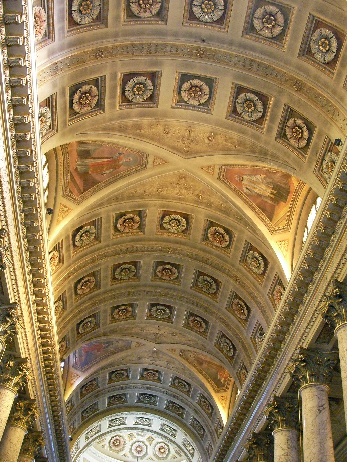 File soffitto della navata centrale duomo di forl jpg for Soffitto della cattedrale di legno