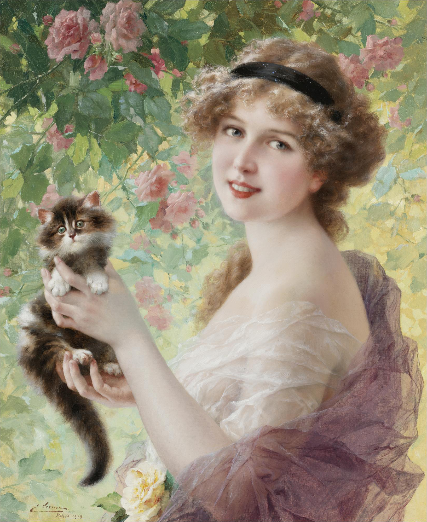 File:Son Petit Chaton by Emile Vernon.jpg - Wikimedia Commons