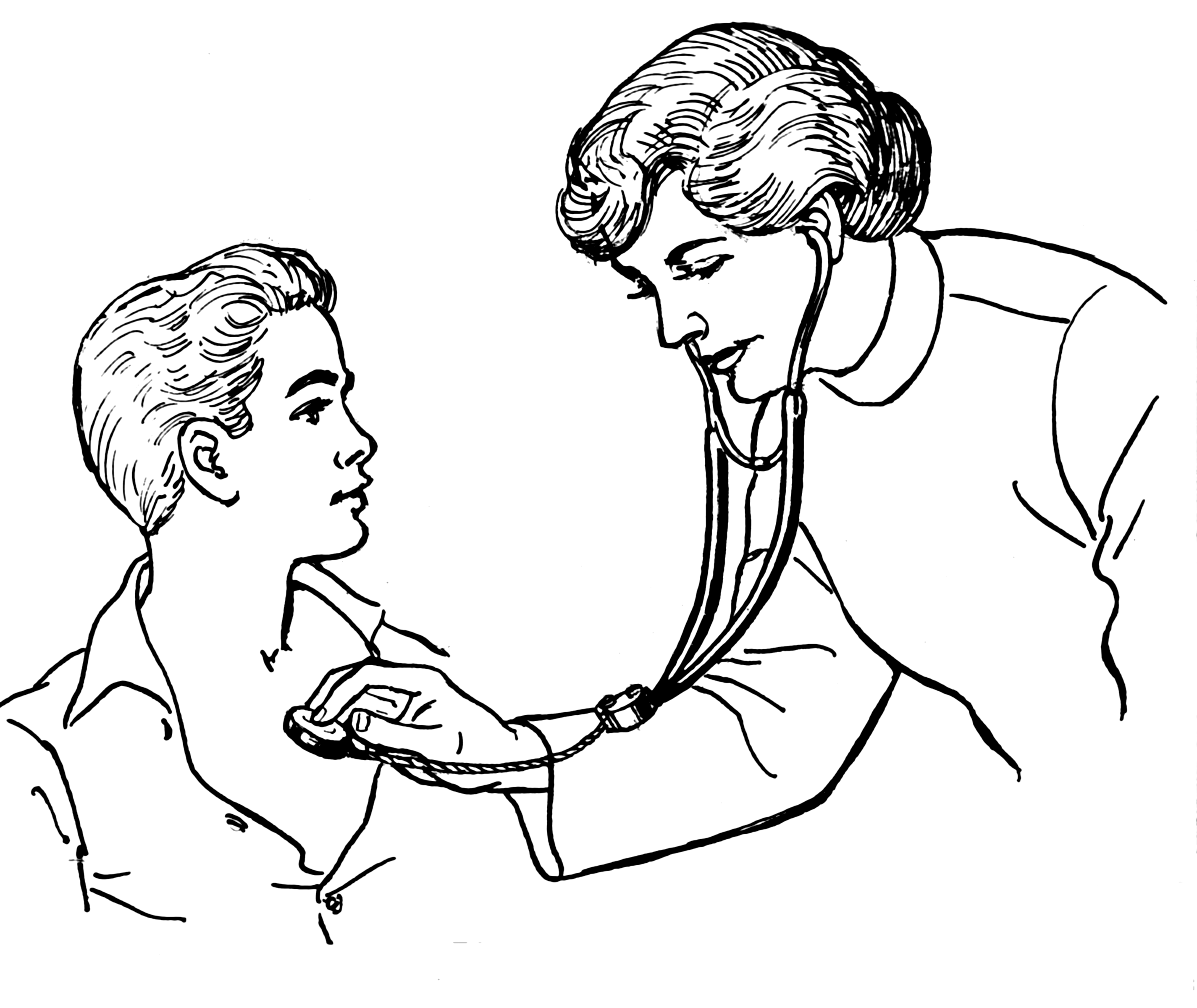 Line Drawing Of A Doctor : Archivo stethoscope psf wikipedia la enciclopedia