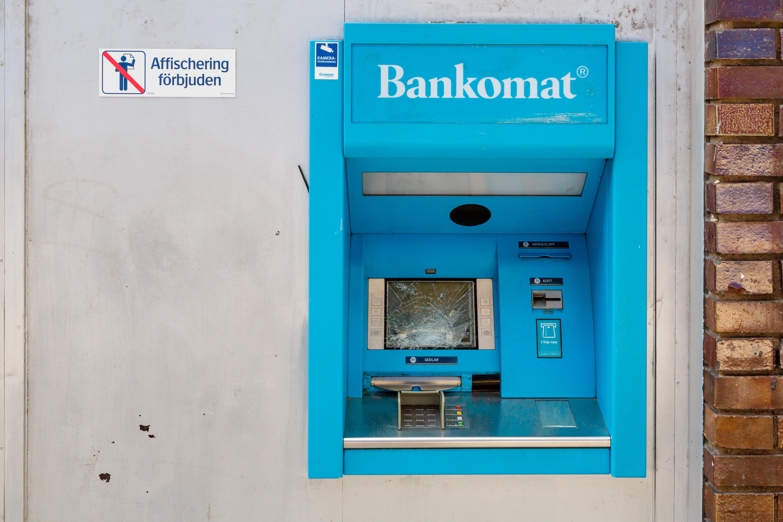 File Stockholm Sweden Vandalized Bankomat At Jakobsgatan 01 Jpg