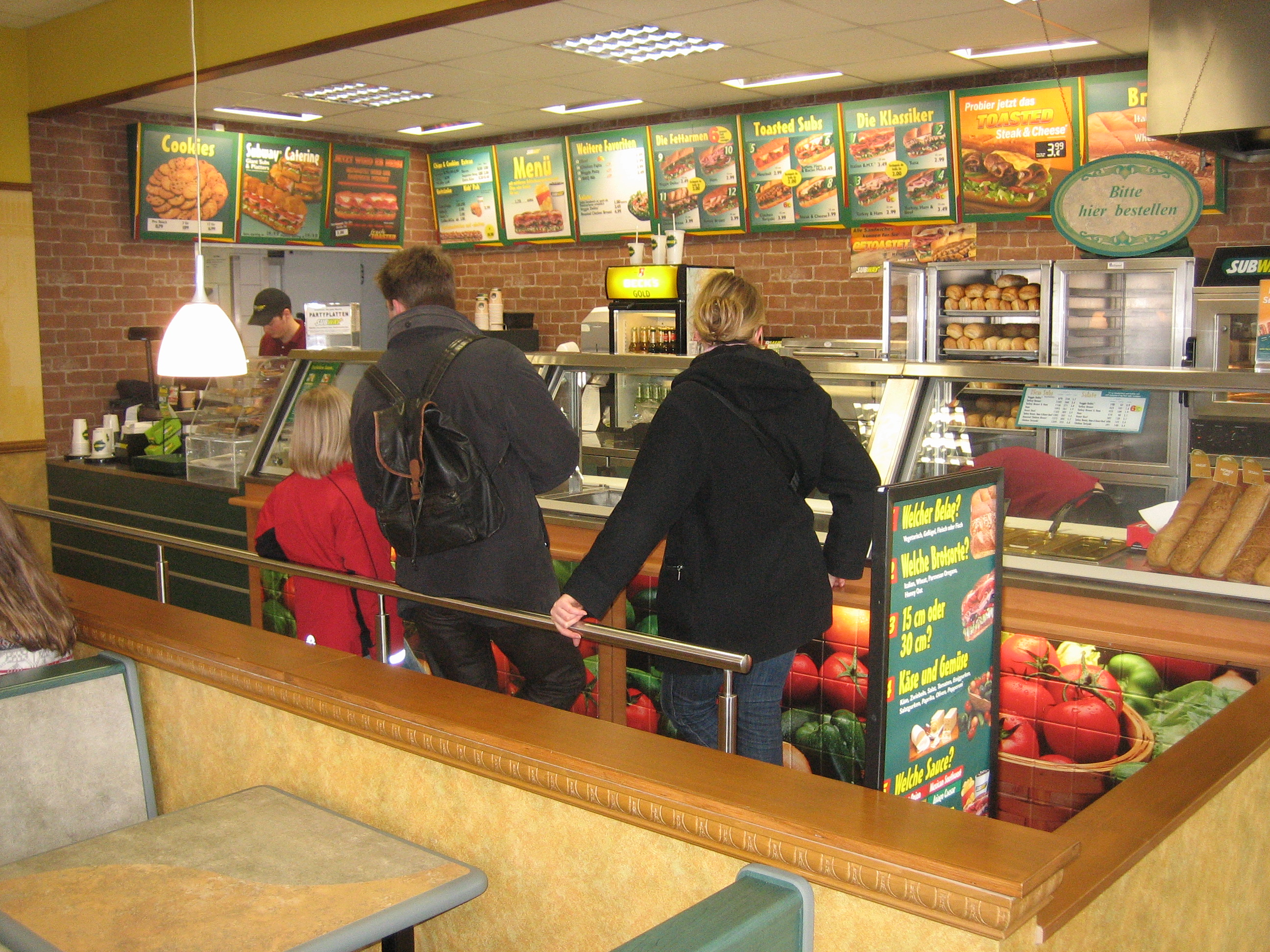 Ordering at a Subway restaurant