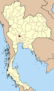 Map of Thailand highlighting Ang Thong Province}