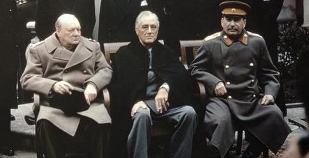 (with fur collar) is among the participants at the Yalta Conference ...