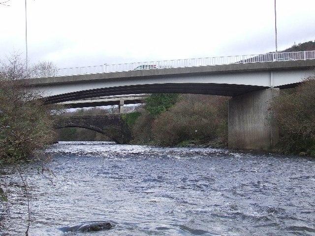 Three bridges at Pontardawe - geograph.org.uk - 347810