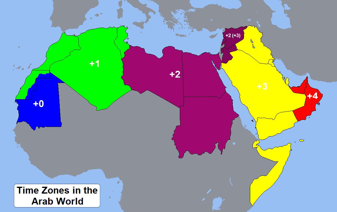 المناطق الزمنية العربية ويكيبيديا