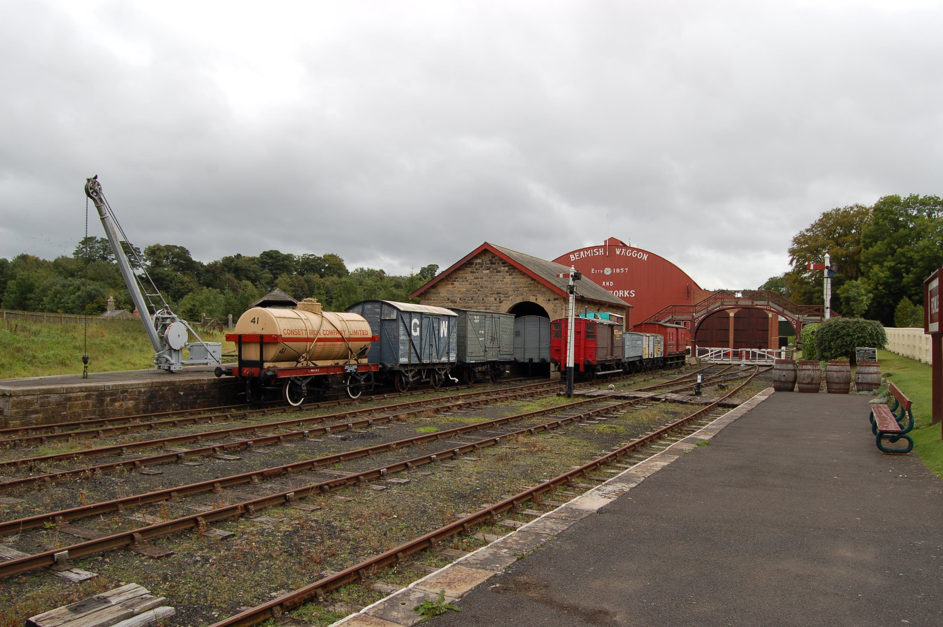 File:Colliery yard, Beamish Museum, 11 September 2011 (14