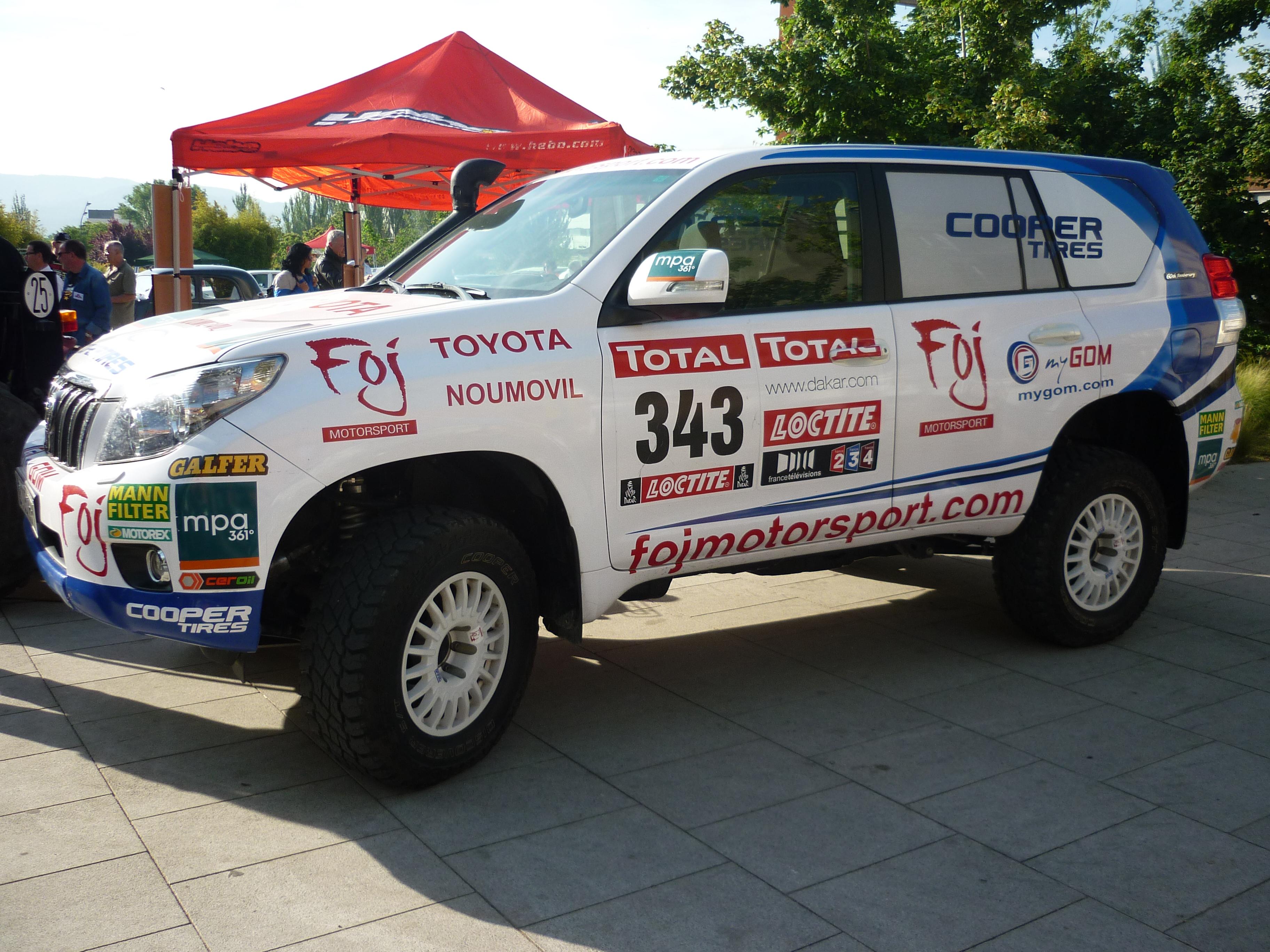 Filetoyota Land Cruiser 150 Xavier Foj Dakar 2014 Wikimedia Toyota