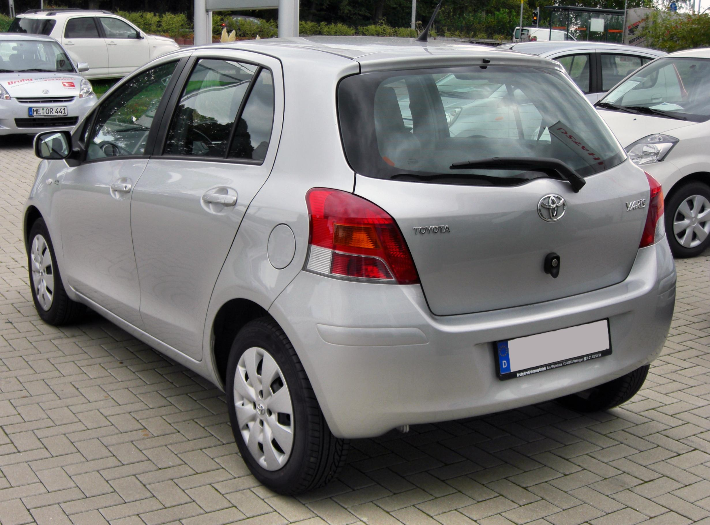 file toyota yaris ii facelift 20090912 rear jpg wikipedia. Black Bedroom Furniture Sets. Home Design Ideas