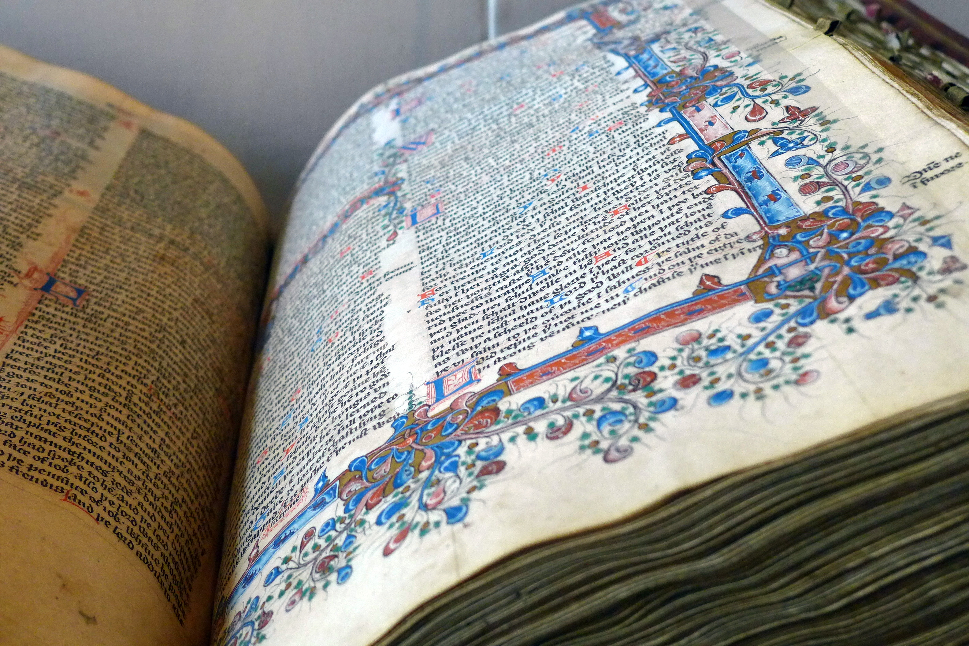 A Tyndale Bible, displayed at the Bodleian Library in June 2014, photo by Steve Bennett (stevage)