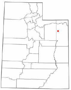 Location of Randlett, Utah
