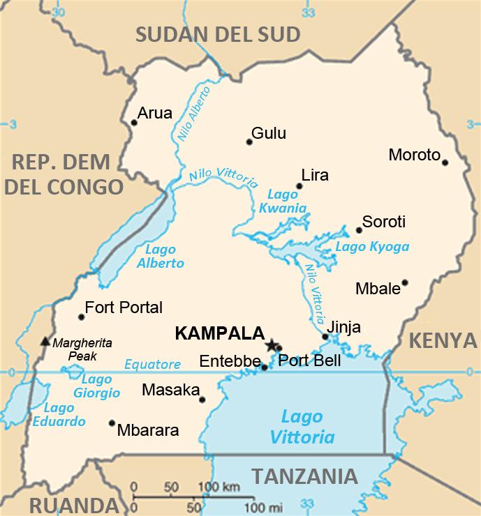 Uganda - Mappa