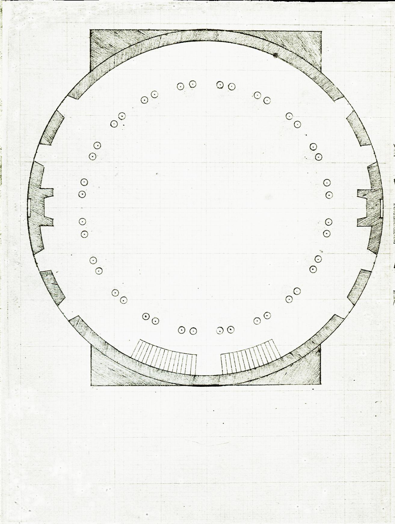 Fileuniversity Of Virginia Rotunda Plan Dome Room Retouchedpng