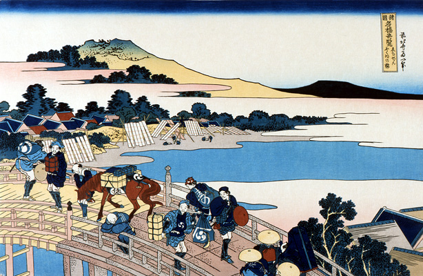 Unusual Views of Celebrated Bridges in the Provinces-Echizen Hukui No Hashi