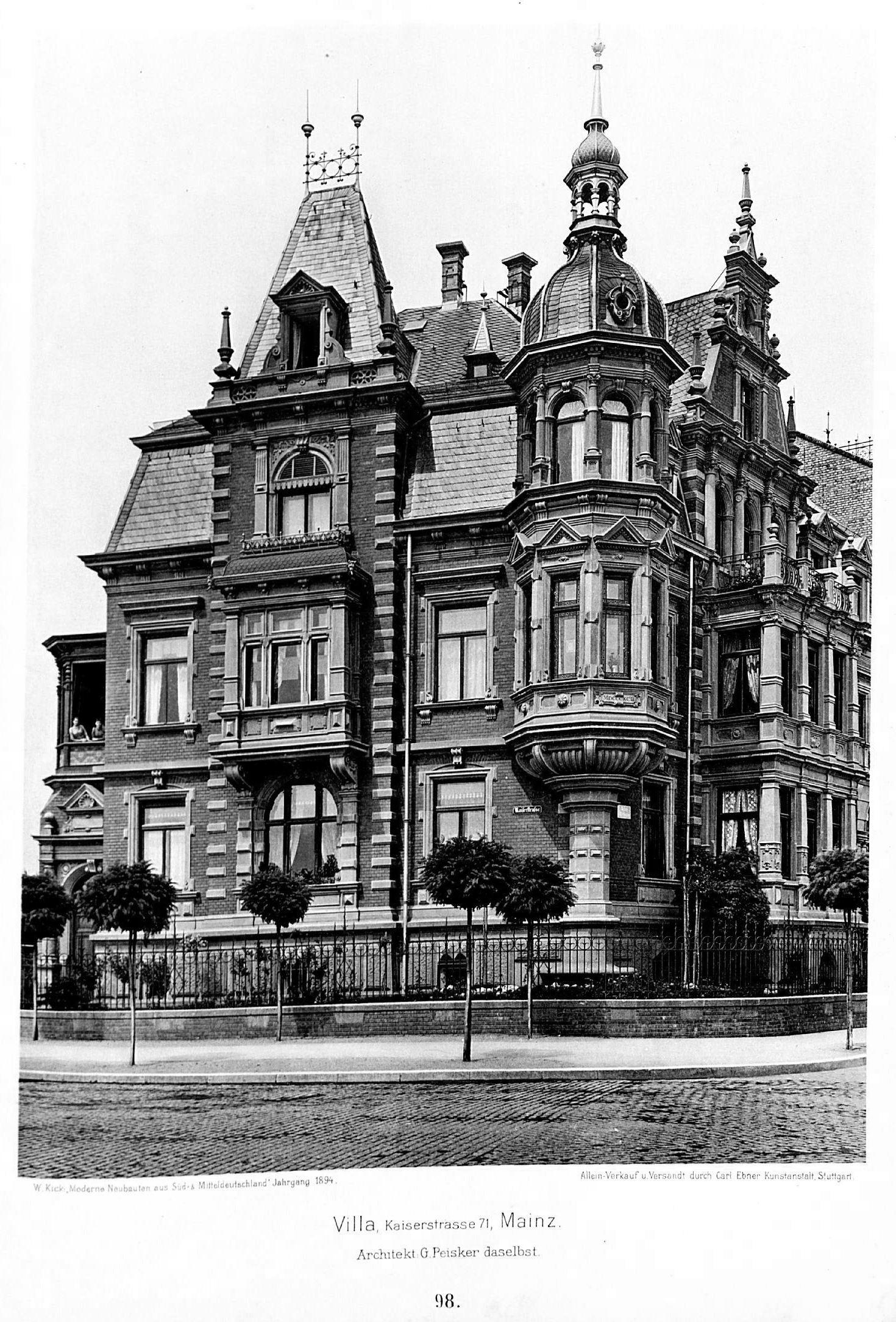 Architekt Mainz file villa kaiserstraße 71 mainz architekt g peisker aus mainz