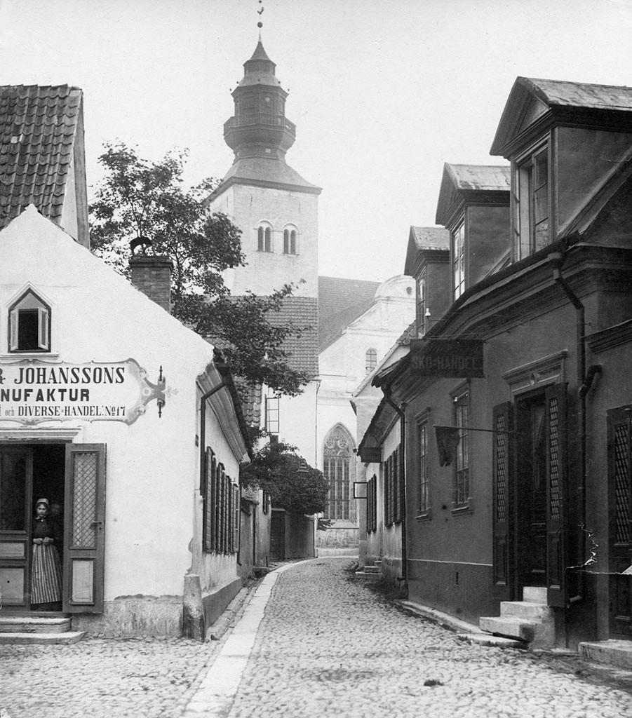 Billede af Visby i 1880'erne.