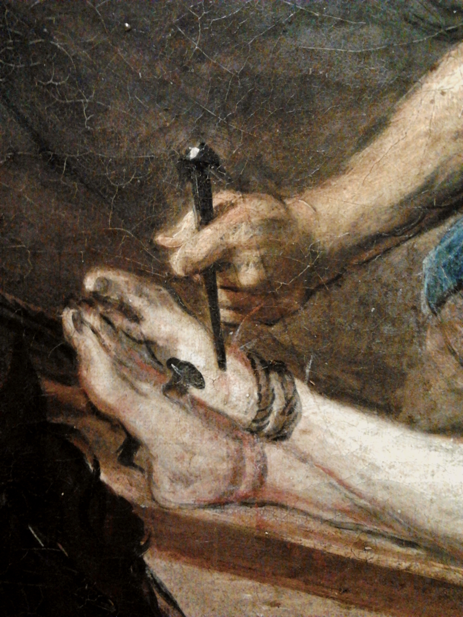file willmann jesus being nailed to the cross detail jpg