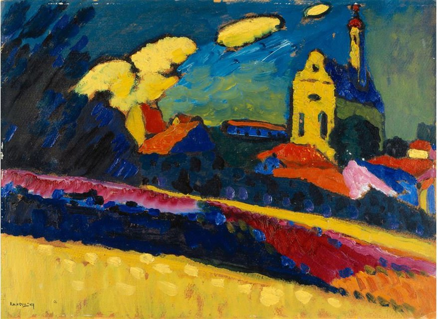 File:'Study of Murnau, Landscape with Church' by Wassily ...