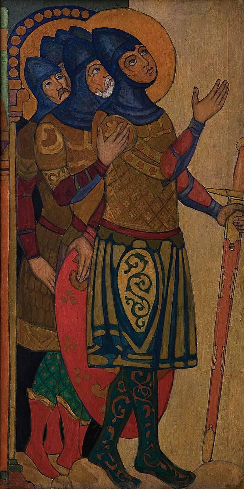 «Святые воины». 1912. Музей искусств Азербайджана