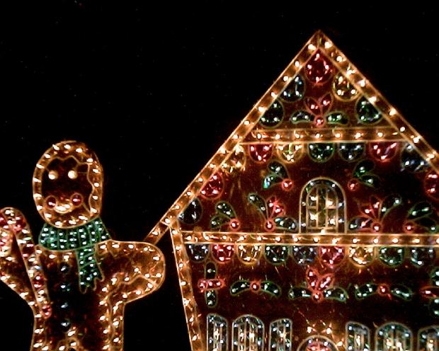 file1461569 christmas lights gingerbread house and gingerbread man