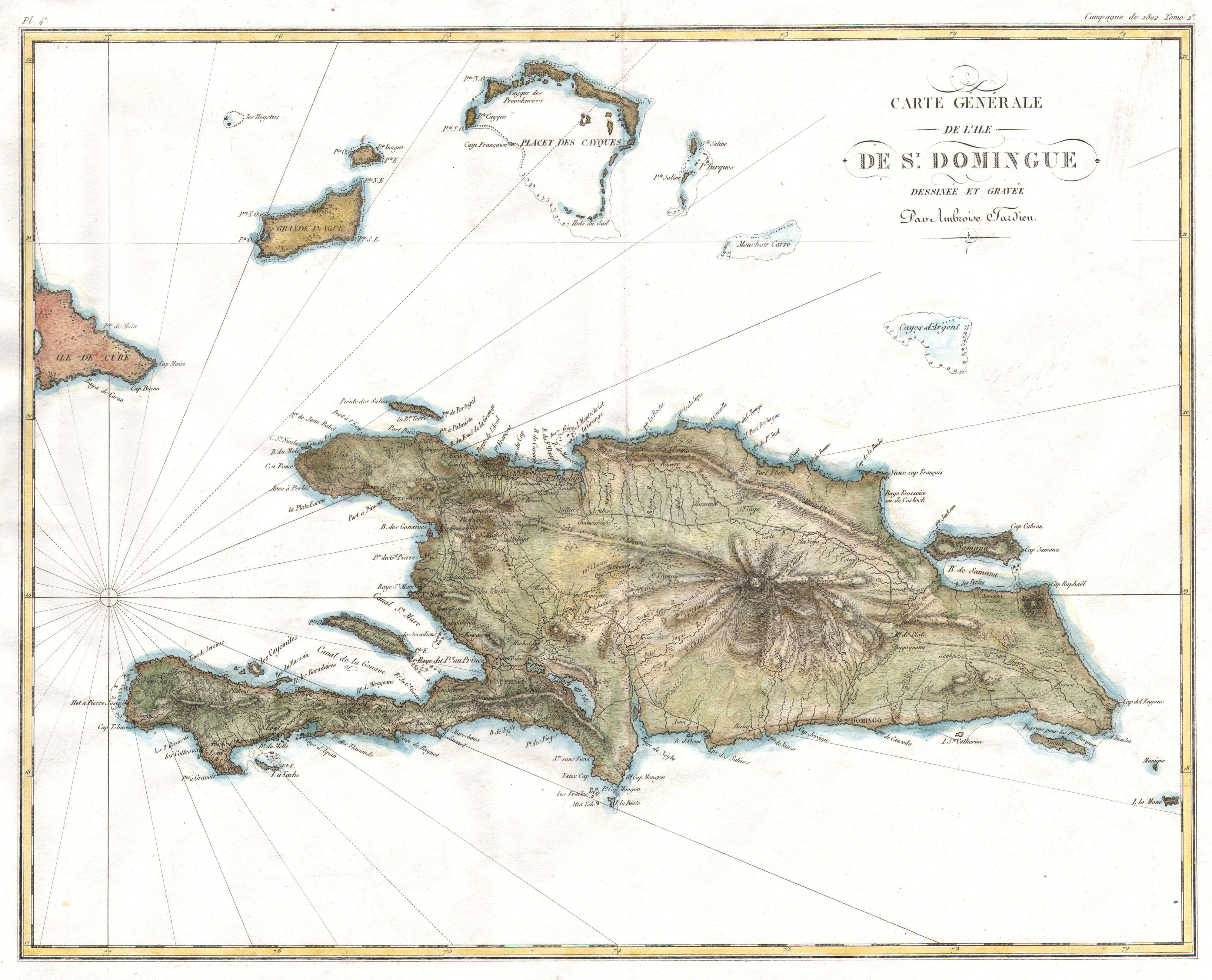 Map Haiti Carte Saint Domingue