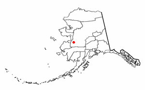Location of Holikachuk Village, Alaska